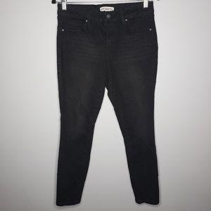 Artisan NY Black Star Embroidered Skinny Jeans